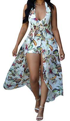 Lovaru Women's Floral Print Chiffon Flowing Boho Boyshort...