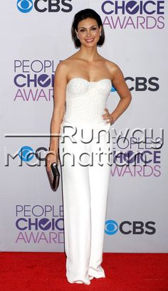 """Morena Baccarin arriving at the 2013 """"People's Choice Awards"""" at the Nokia Theatre LA LIVE in Los Angeles, California - Jan 9, 2013 - Photo: Runway Manhattan/Celebrity Photo"""