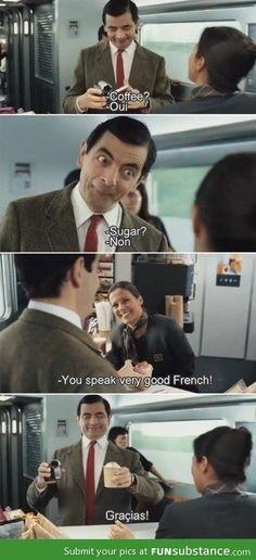 Mr Bean, so hilarious Mr. Bean, Funny Meme Pictures, Funny Memes, Funniest Memes, Funny Videos, Funny Cute, The Funny, Citations Film, Bd Comics