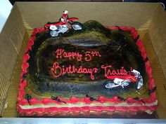 Fifth Birthday Cake, Dirt Bike Cakes, Birthday Numbers, Number 7, Party, Desserts, Food, Tailgate Desserts, Deserts