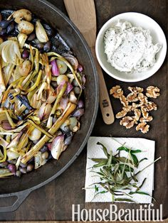 Todd English's Six-Onion Roast with Goat Cheese and Walnut Crema