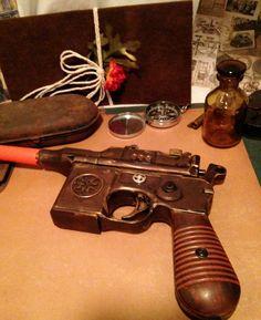 Steampunk Gun Pistol by GypsyTradingCo on Etsy https://www.etsy.com/listing/106234612/steampunk-gun-pistol