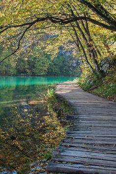 Calm walkway, take a nice quiet walk in solitude.