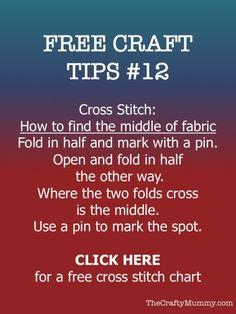 free craft tip 12 cross stitch