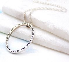 Oval Silver Pendant Necklace | Personalised Unique Pendant | Gift for Her | Oval Pendant | Personalised Jewellery by Soremi on Etsy