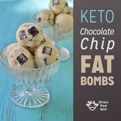 Keto Chocolate Chip Fat Bombs | Grass Fed Girl