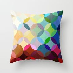 Circular Motion Throw Pillow ~ this would be fun to make with semi sheer fabrics!
