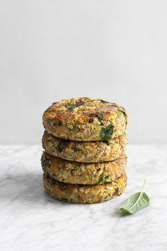 #Sharing | Pumpkin, Whole Rice & Sage Burgers