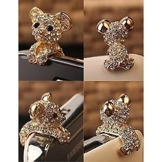 New Crystal Dog Puppy Bear 3.5mm Antidust Anti Dust ear cap for iphone 5, HTC, Samsung by Better Dealz, http://www.amazon.com/dp/B008XN2M3Y/ref=cm_sw_r_pi_dp_oMEgrb1MHW5ZW