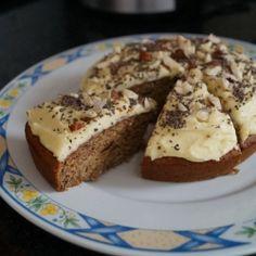 Coconut & Vanilla Cake with Hazelnut topped frosting