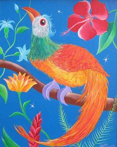 Rooster, Animals, Painting, Art, Illustrations, Art Background, Animales, Animaux, Painting Art