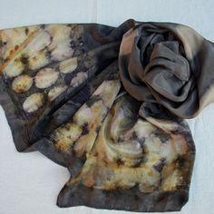 Cotinus Cogyggria and black tea scarf - Morgen Bardati
