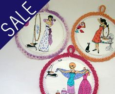 WALL ART SALE  Buy 2 Get 1 Free  Three Fabric Pictures by shusha64, $30.00