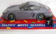 Celebrate with Cake!: Sculpted Porsche Cayman S Car Cake