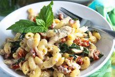heartland creamy chicken and goat cheese pasta