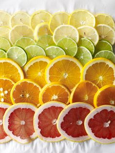 Ombre of citrus! Celebrate the bounty with a colorful, inspired dinner party menu, starring cold-weather gems like oranges, grapefruit and other citrus fruits.