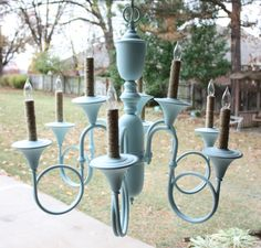 Updating a little chandelier... — Beckwith's Treasures