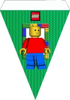 """Digital Birthday Kit """"Lego"""" Theme for Print - Simple Digital Invitations Lego Ninjago, Lego Themed Party, Lego Birthday Party, 7th Birthday, Lego Party Invitations, Digital Invitations, Lego Party Decorations, Bolo Lego, Lego Friends Birthday"""