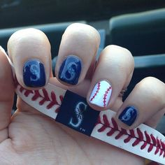 All decked out and ready for my first game at Safeco! #gomariners | Instagram: krbnails