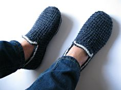 Felt Soles Crochet Slippers,  House Slippers, Men Loafers, Men Accessories, House Men Boots, Adult Slippers, Gift for Men, Christmas Gift