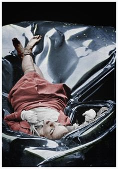 """Called """"the most beautiful suicide,"""" Evelyn McHale. On the 1st May 1947 she jumped 86 floors from the top of the Empire State Building. She was 23 years old. On the ground below, a photography student named Robert Wiles managed to capture the scene minutes after her body landed on top of a parked limousine."""