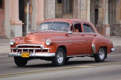Old chevrolet, the Malecon, Havana, Cuba by iancowe, via Flickr