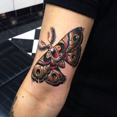 traditional moth tattoo