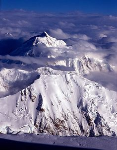 Mt. Hunter And Mt. Kahiltna - Denali National Park, Alaska