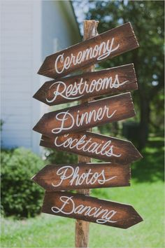 which way bohemian rustic wedding sign