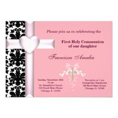Sold this #damask pink #holycommunion invitation to FL. Thanks for you who purchased this.