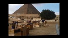 Ashley and Bronnie at the Great Pyramid, Egypt