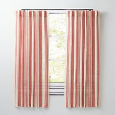 Line Up Curtain Panels (Red)  | The Land of Nod
