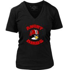 GLITZ Angry Birds Falcons Fan Women's V-Neck T Shirt – GLITZ Apparel