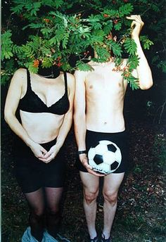 Boris Mikhailov. Football, 2000.  This image interests me as i have begun shooting the socially diverse, however I have decided to study these people and simply look at capturing portraits of their clothing instead of concentrating on the faces.