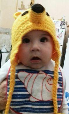 Gorro osito crochet