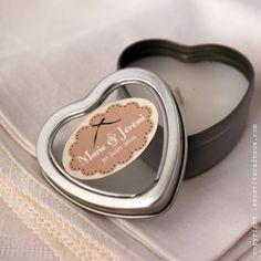 Mini bougie coeur mariage - Les Petits Cadeaux