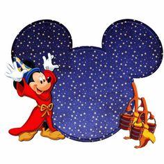 Imprimibles de la silueta de la cabeza de Mickey y Minnie. 20 modelos diferentes.