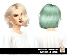 Miss Paraply: Sintiklia Lime: solids & dark roots • Sims 4 Downloads