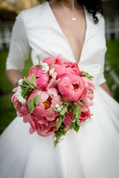 fabulous pink peony bouquet from Flowers by Beth