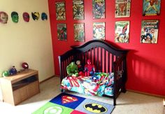 Super hero room little boys rooms, baby boy rooms, baby boy nurseri Marvel Bedroom Decor, Bedroom Themes, Kids Bedroom, Bedroom Ideas, Nursery Ideas, Marvel Boys Bedroom, Marvel Nursery, Avengers Room, Marvel Room