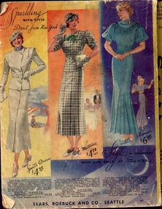 1934 suits. Sears catalog.