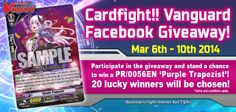 Participate in this Cardfight!! Vanguard giveaway and stand a chance to win a PR/0056EN 'Purple Trapezist'!