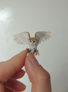 Anya Stone is a UK based artist who sculpts micro and miniature animal and bird detailed figures that are 1:12 and even smaller scales. To make these tiny wonders she uses polymer clay, wool, synthetic and plant fibers or feathers to make them look realistic. Anya has been sculpting for over 15 years and worked on numerous commissioned work, including wildlife, domestic animals, and fantasy work to restoring polymer clay items.