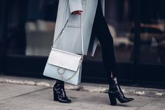 The VivaLuxury | Baby Blues..Chloe Faye bag. Gorgeous structured bag!