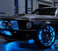 Mustang (blue lights)... I would like this for my mustang but with purple lights!