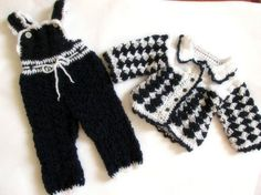 Crochet baby overall and sweater baby boy pants by paintcrochet, $70.00