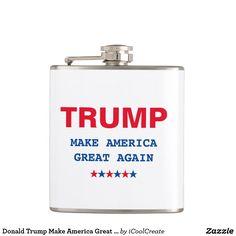 Donald Trump Make America Great Again Republican Hip Flask