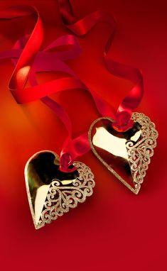 Gold hearts.