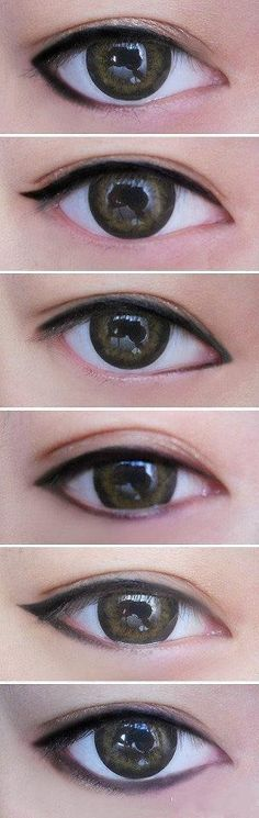 different style eyeliner gives different looks #japanesemakeup