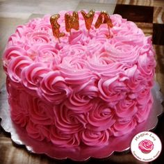 Pink roses cake!